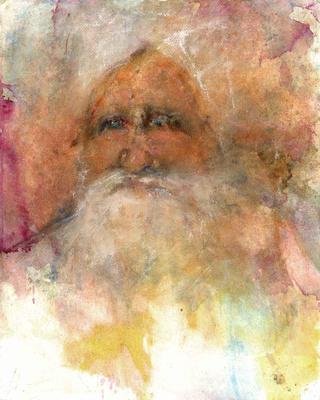 """original watercolor painting 22""""x20' Darshan"""