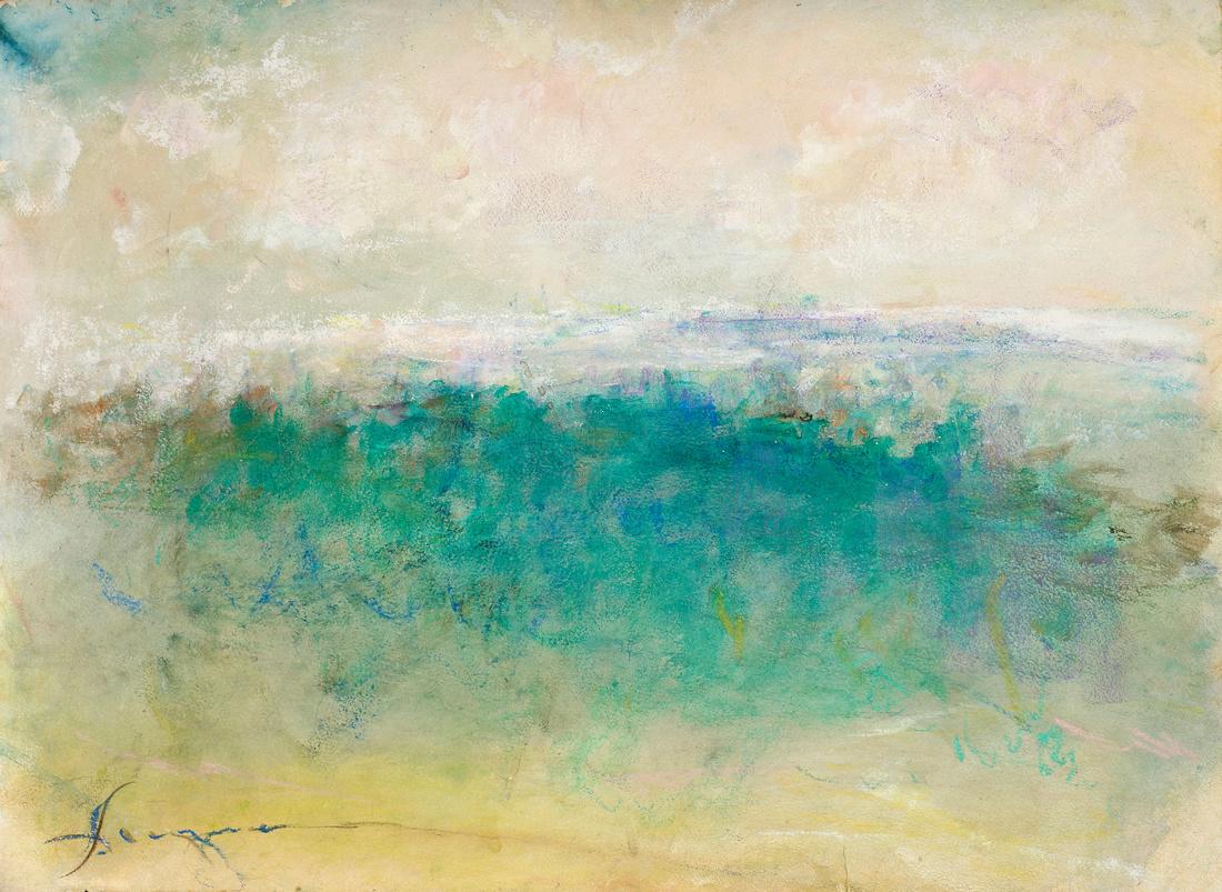 "original watercolor Maine Mt Desert available mixed media 34""x28"" $900."