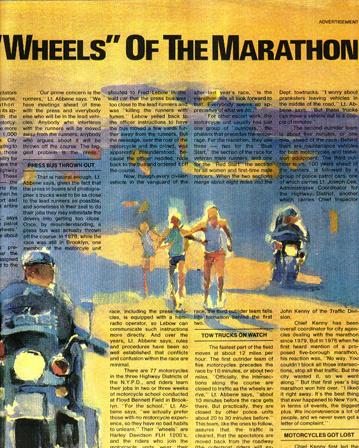 """ny times marathon section  original acrylic painting 22""""30'"""