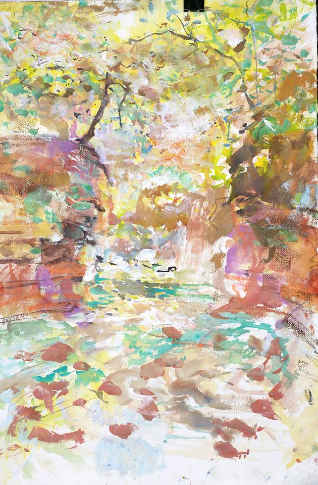 """cove 2 original watercolor painting 22""""30'"""