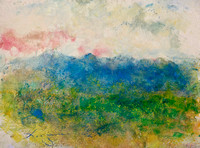original watercolor Shenandoah Virginia painted on location   on 300lb Shenandoah Valley,Virginia