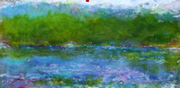 "blue mountain lake Adirondack museum September Oct 2016oil pastel 30 ""'x40 'story about long panoramaspainted on location in the Adirondack mountains the 24' one over a 8 year period on lodge rd durin"
